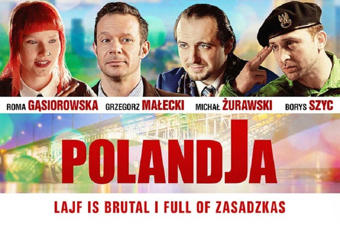 Lajf is brutal i full of zasadzkas! Plakat filmu PolandJa