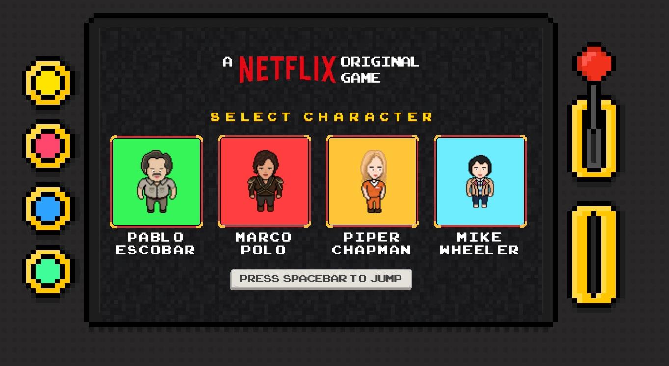 Netflix stworzył grę przeglądarkową z postaciami z seriali