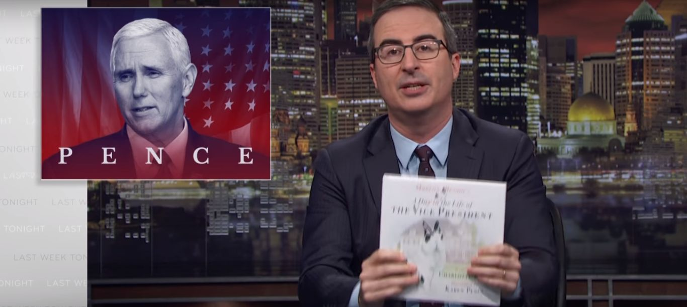 Książka Johna Olivera wyśmiewająca wiceprezydenta USA jest bestsellerem