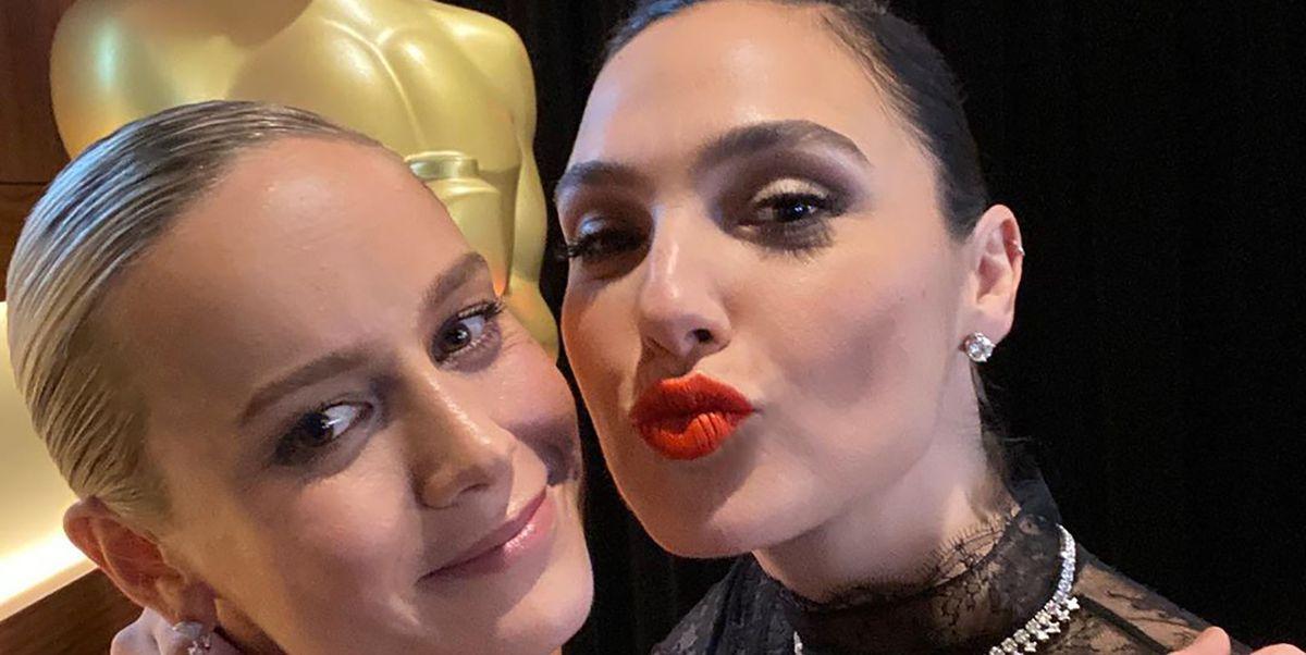 """Brie Larson """"dusi"""" Gal Gadot - zdjęcie gwiazd ma wymowny podpis"""