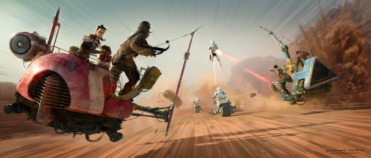 Star Wars 9 - Rey i Ludzie Pustyni. W filmie był słynny Dengar [SZKIC]