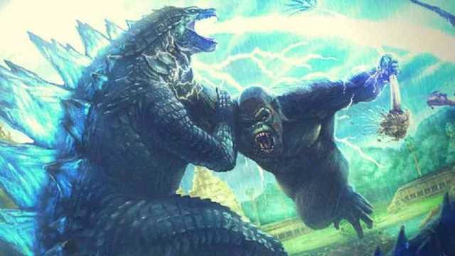 Godzilla kontra Kong - potwory gotowe do walki. Krótki fragment pokazuje Konga