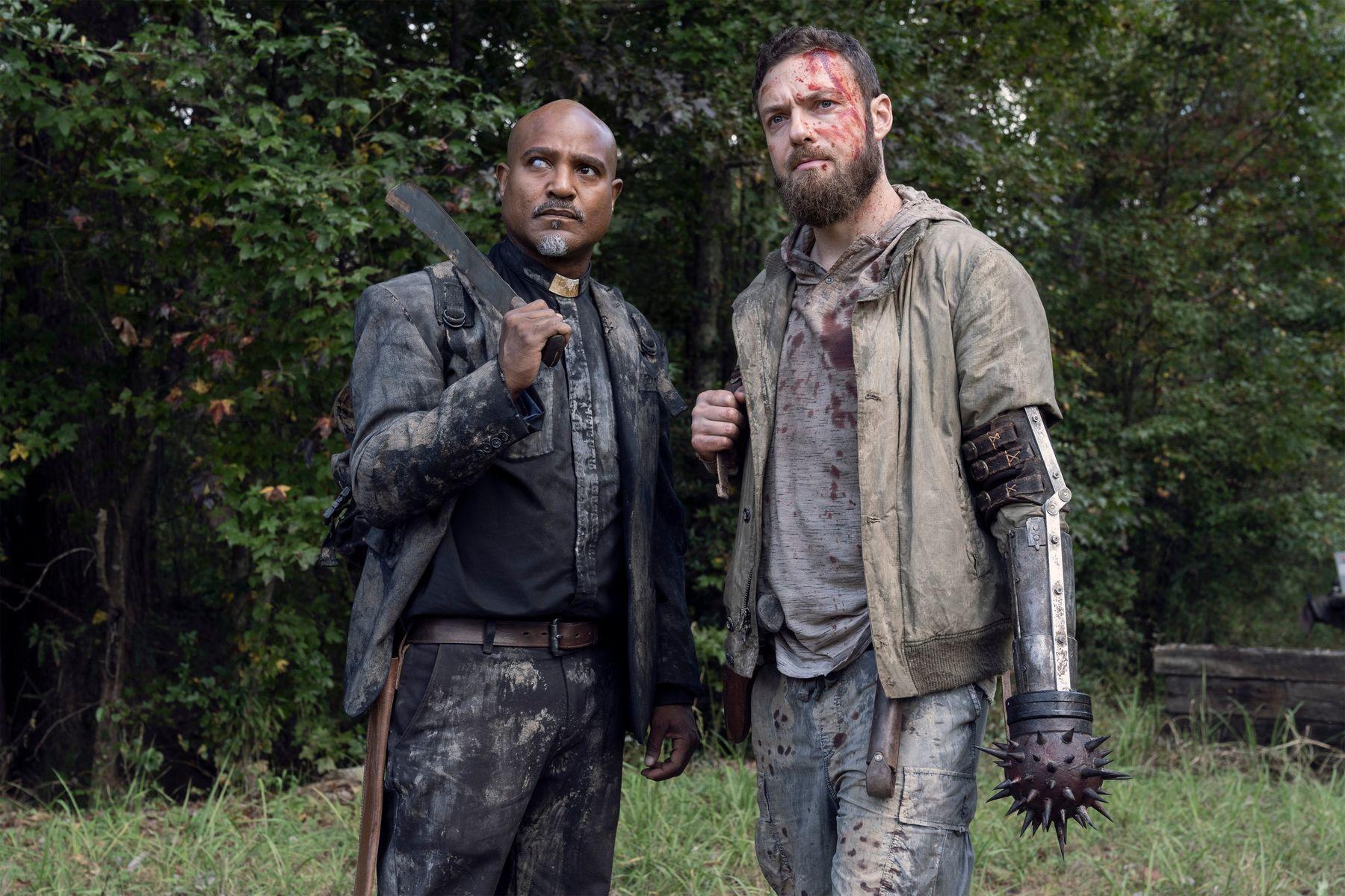 The Walking Dead 10C - zakulisowe zdjęcia Psa i jego dublera. Teasery i zdjęcia z 19. odcinka