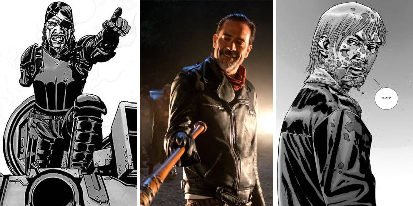 The Walking Dead - najlepsze momenty, gdy komiks szokował bardziej niż serial