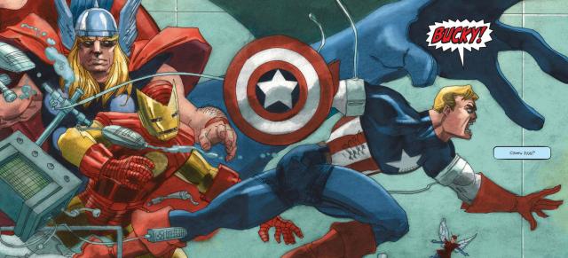 Obejrzyj plansze z komiksu Kapitan Ameryka: Biały