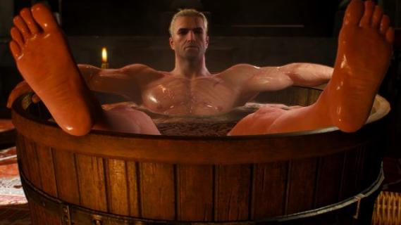 Geralt w balii. Zaprezentowano nietypową figurkę z gry Wiedźmin 3: Dziki Gon