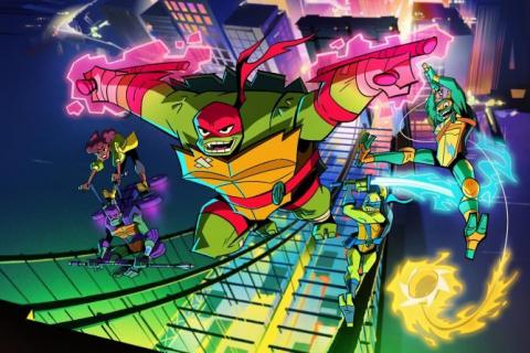 Oto Baron Daxum, złoczyńca z kreskówki Rise of the Teenage Mutant Ninja Turtles