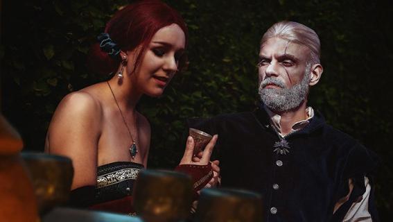 Wiedźmin i miłosny cosplay. Zakochani Geralt i Triss – zobacz zdjęcia