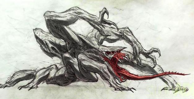 Predator – stwory, które mogły pojawić się w filmie. Szkice koncepcyjne