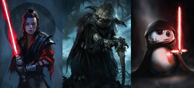 Gwiezdne Wojny – a gdyby tak znane postacie zamienić w Sithów? Oto grafiki