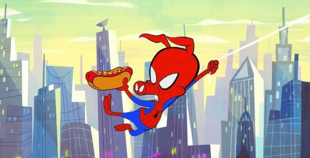 Spider-Man Uniwersum – Spider-Ham i hot dog w zabawnym klipie