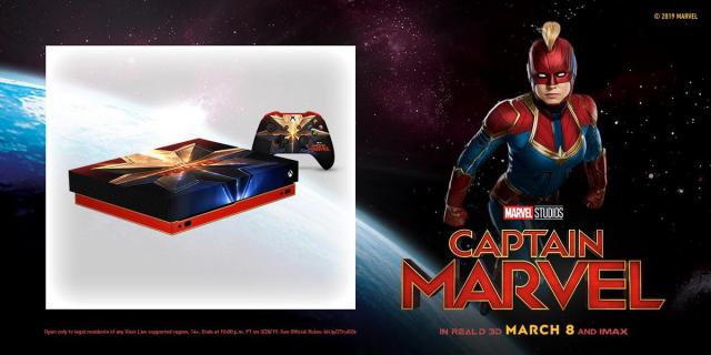 Wyjątkowy Xbox One X z motywem Kapitan Marvel może być Twój
