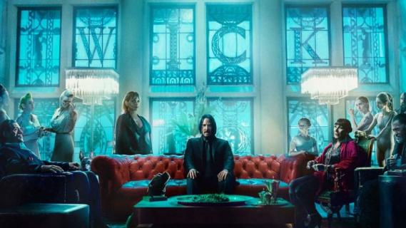 John Wick 3: Parabellum - bohaterowie na plakacie IMAX