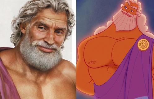 Ojcowie bohaterów Disneya w bardzo realistycznym wydaniu