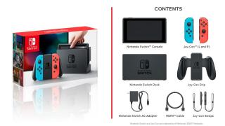 Nintendo Switch - zawartość pudełka