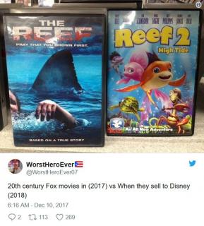 """""""Oto filmy Foxa po tym, jak przejmie je Disney"""""""