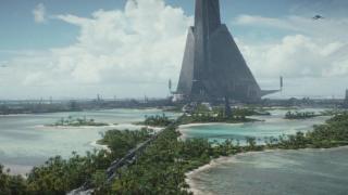 """Scarif - Qi'ra w rozmowie o tym, gdzie można zdobyć paliwo wspomina o imperialnej planecie znanej z """"Łotra 1""""."""