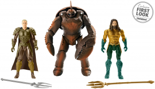 Aquaman - król Orm w stroju bojowym, Brine King i Aquaman