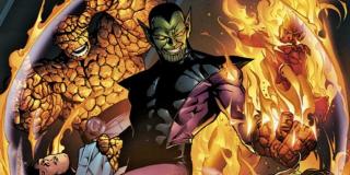 Super-Skrull (w przeciwieństwie do Skrulli, których zobaczymy w MCU, do tej postaci Marvel nie miał praw) - przedstawiciel kosmicznej rasy Skrulli, który wszedł w posiadanie wszystkich mocy Fantastycznej Czwórki jednocześnie; może być więc niewidzialny, tworzy pole siłowe, posiada nadludzką siłę, rozciąga swoje ciało i miota promieniami