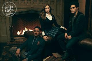Legacies - Rafael (Peyton Alex Smith), Hope Mikaelson (Danielle Rose Russell), Landon Kirby (Aria Shahghasemi)