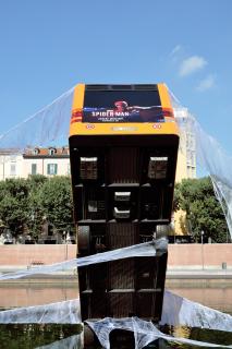 Promocja gry Marvel's Spider-Man w Mediolanie