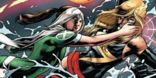 Swego czasu Rogue i Ms. Marvel zmierzyły się na moście Golden Gate - pierwsza z nich użyła swojej zdolności absorbowania mocy przeciwników; sęk w tym, że wraz z nią zabrała Danvers wspomnienia i osobowość, co doprowadziło do poważnych problemów z kondycją psychiczną u Rogue; samą Ms. Marvel w tym pojedynku uratowała Spider-Woman