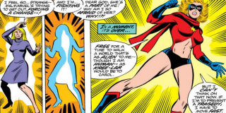 Ten sam wybuch doprowadził do rozdzielenia jej osobowości - Carol Danvers i Ms. Marvel przez pewien moment funkcjonowały jako dwa byty, a bohaterka nie była w stanie przypomnieć sobie, kim jest, ani skąd pochodzi
