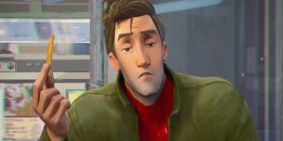 """Druga ze scen po napisach to oczywiście zapowiedź animacji """"Spider-Man Uniwersum"""", która wejdzie na ekrany kin w grudniu - krótki materiał pokazuje spotkanie Milesa Moralesa z Peterem Parkerem"""