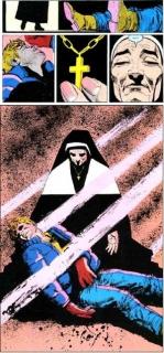 """Wątek pobytu Matta w kościele czerpie z serii komiksowej """"Born Again"""" - to w niej po raz pierwszy w komiksach pojawia się siostra Maggie Grace"""