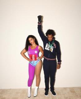 Beyonce i Jay-Z jako słynny lekkoatleci, Florence Griffith-Joyner i Tommie Smith