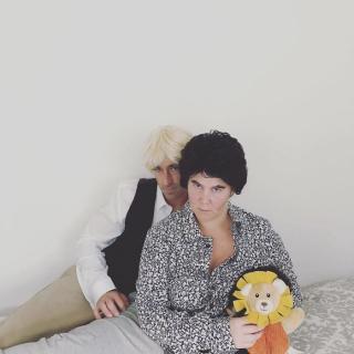 Amy Schumer i jej partner jako Siegfried i Roy