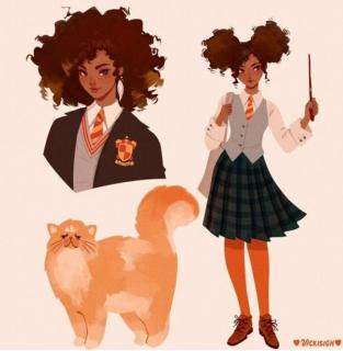 Harry Potter - bohaterowie jako postacie z anime