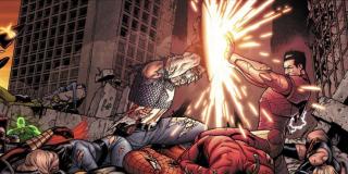 """Wojna Domowa - inspiracja dla filmowej """"Wojny bohaterów""""; stosunek do zmuszającej herosów do ujawnienia swojej tożsamości Ustawy o rejestracji doprowadził do podziału Avengers na dwie frakcje, skupione wokół Iron Mana i Kapitana Ameryki"""