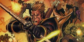 """Po komiksowych """"Tajnych wojnach"""" Barton jako Ronin dowodził drużyną New Avengers, która walczyła z wersją stworzonych przez Normana Osborna Avengers"""