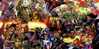 Tajna Inwazja - Ziemia została tu opanowana przez zmiennokształtnych Skrulli - ci przed planowaną inwazją zdołali przeniknąć w szeregi zarówno S.H.I.E.L.D., jak i Avengers