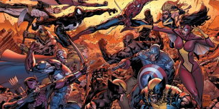 Dark Reign - Norman Osborn objął władzę nad S.H.I.E.L.D., tworząc również grupę Mrocznych Avengers - Venom naśladował choćby członków prawdziwych Mścicieli; superbohaterowie musieli radzić sobie z zabraniem ich tożsamości, ponownie działając jako uliczni bojownicy