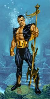 Namor - w świecie Marvela król Atlantydy i jednocześnie jeden z tych herosów, którzy jako pierwsi debiutowali w komiksach; jego pojawienie się w MCU zależy od ewentualnej umowy ze studiem Universal