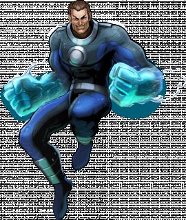 Morris Bench aka Hydro-Man - swoje moce zdobył, gdy w czasie rejsu wypadł za burtę i został napromieniowany przez dopiero co testowany, podwodny generator; jego naludzkie zdolności obejmują kontrolowanie wody w każdej formie
