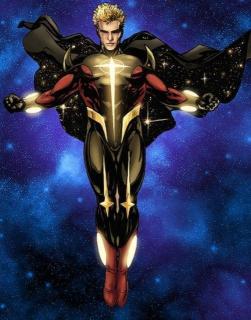 Wendell Vaughn aka Quasar - początkowo jego marzeniem było tylko dostanie się do S.H.I.E.L.D.; dzięki wejściu w posiadanie tajemniczych Bransolet Kwantowych został on jednak herosem działającym ramię w ramię z Nova Corps czy Avengers
