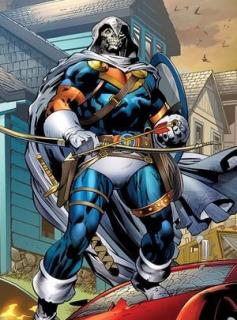 Tony Masters aka Taskmaster - złoczyńca wielokrotnie walczący z Avengers, choć fani pamiętają przede wszystkim jego pojedynki z Deadpoolem; ma fotograficzną pamięć ruchową - naśladuje więc różne style walki, jak również posiada cały arsenał kopii broni herosów
