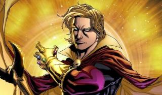 """Adam Warlock - został sztucznie stworzony z zamiarem powołania do życia istoty idealnej; z czasem ujawniła się jego druga, mroczna osobowość - Magus; Warlock miał największy wpływ na pokonanie Thanosa w komiksowej """"Rękawicy Nieskończoności"""""""