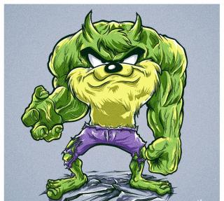 Hulk jako Diabeł Tasmański