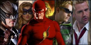 Na Ziemi-90 widzimy ciała zmarłych herosów - leżą tu Stargirl, Ray, Green Arrow w kostiumie znanym z Tajemnic Smallville i najprawdopodobniej Hawkman