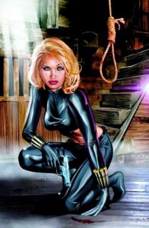 Yelena Belova - trenowana w jednym programie razem z Natashą Romanoff we współczesnych komiksach przejmowała tytuł Czarnej Wdowy