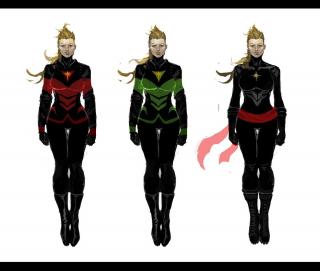 Kapitan Marvel - szkice koncepcyjne