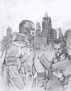 Rysunek z Deeganem i Monitorem został stworzony przez jedną z najważniejszych osób w DC, Jima Lee, od lat uznawanego za jednego z najwybitniejszych w historii twórców komiksów