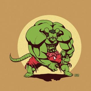 Hulk jako Myszka Miki
