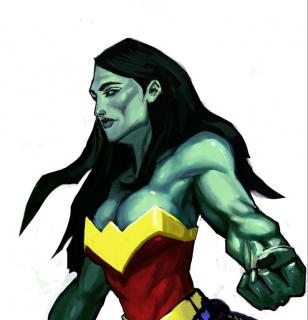 Hulk jako Wonder Woman