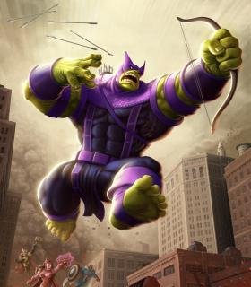 Hulk jako Hawkeye