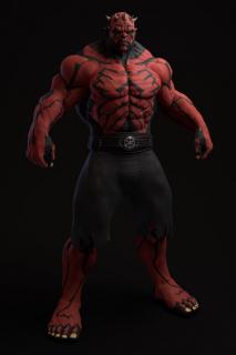 Hulk jako Darth Maul